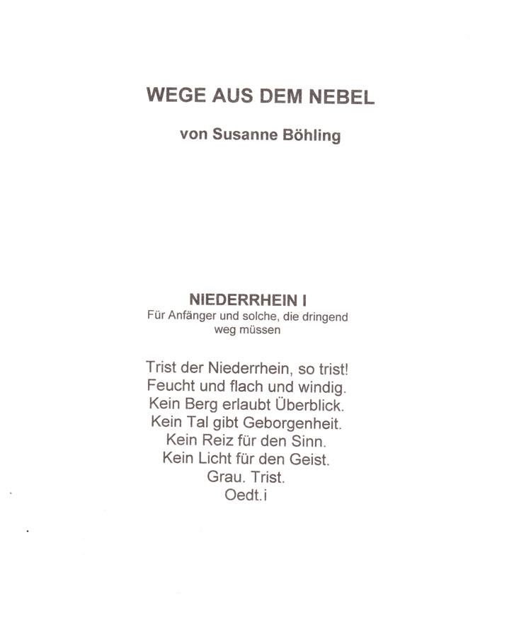 """Eröffnungsgedicht für """"Wege aus dem Nebel"""""""