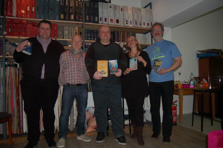 """Das """"Ohrenschmaus""""- Team mit Gerd Brunner, 2. von links"""