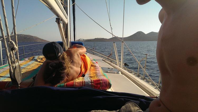 Sonne pur beim Segeln mit Thomas Rahn