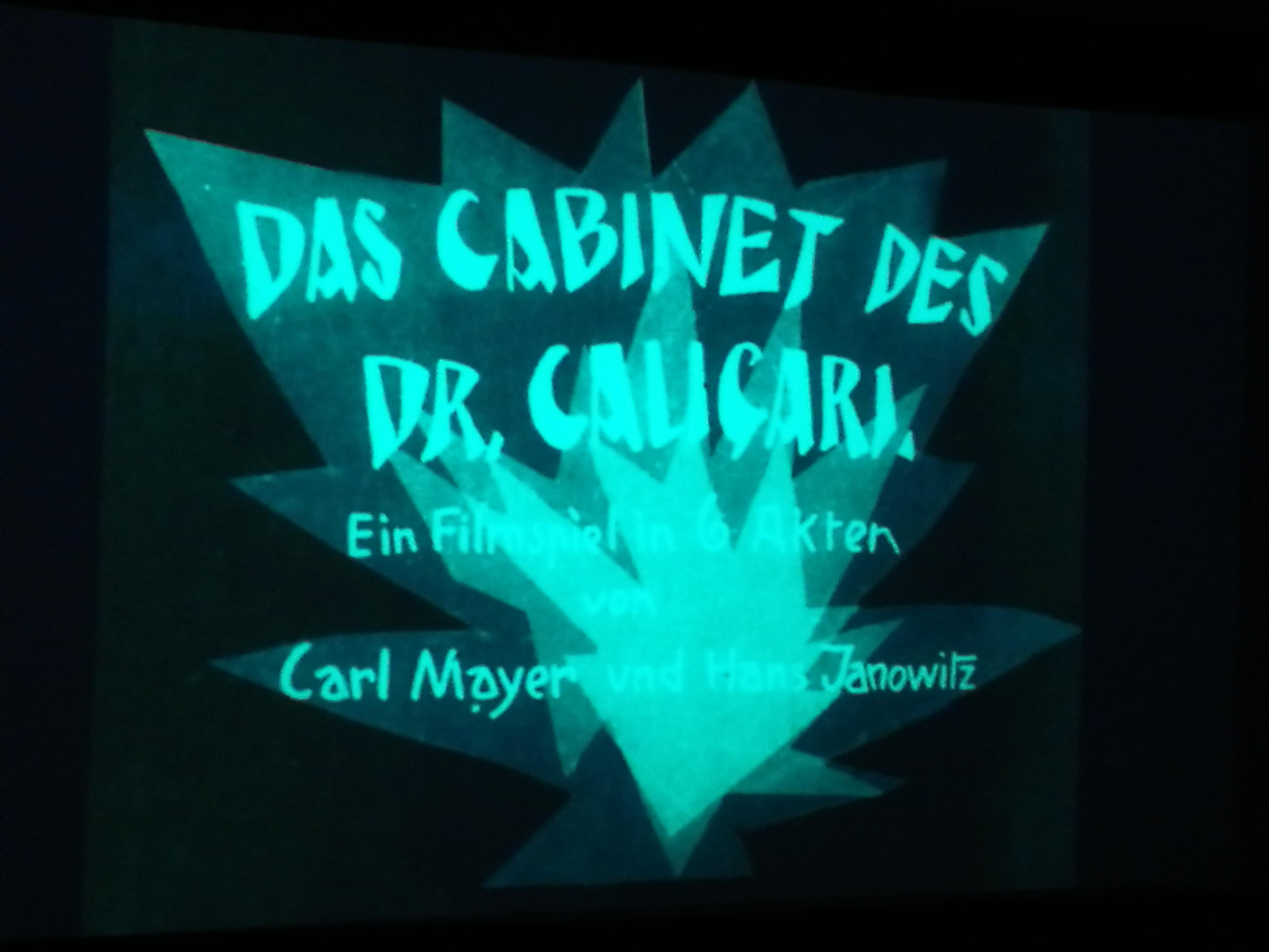 Titelschrift Dr. Caligari