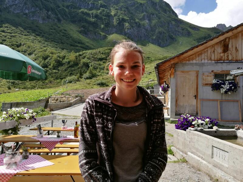 Anna Moser, Praktikantin auf der Alpe Latschätz