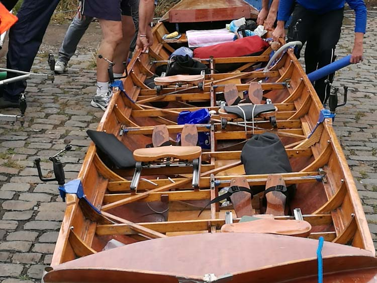 Seegig Vierer beim Rheinmarathon