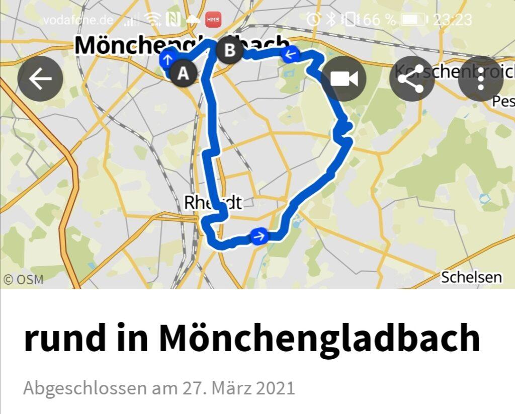Die geplante Tour für Mönchengladbach und Rheydt